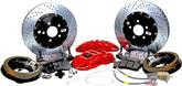"1982-92 F-body w/Saginaw 10-bolt Drum Baer Extreme+ 14"" Rear Disc Brake Set with Red Calipers"