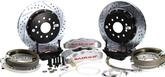 "1993-02 F-Body w/Stock 10-bolt Rear End  Baer 14"" Pro+ Rear Disc Brake Set with Silver Calipers"
