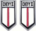 1966-67 CHEVY II DOOR PANEL EMBLEMS