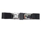 1964-73 Mustang Front or Rear Vintage Style 2-Point Lap Belt with Push Button Buckle - Black