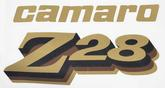 1977 Camaro Z28 Light Gold/Black/Brown/Light Gold Front Fender Decal