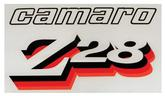 1977 Camaro Z28 Front Fender Decal - Black/Clear/Red/Orange