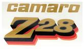 1977 Camaro Z28 Front Fender Decal - Dark Gold/Black/Red/Orange