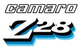 1978 CAMARO Z28 FRONT FENDER DECAL - SILVER/BLACK/DARK BLUE/BLUE