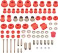 1965-74 Mopar B / E-Body Red Hyper-Flex Polyurethane Bushing Set