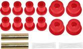 1965-74 MOPAR B/E-BODY REAR SPRING/SHACKLE BUSHINGS POLYURETHANE RED