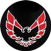"1982-83 Firebird Wheel Cap Emblem Red 2-1/8"" diameter"