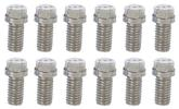 Stainless Steel Small Block Header Bolt Set with 350 Logo