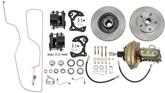 1962-64 Chevy II / Nova 5 Lug Power Front Disc Brake Conversion Kit Use With Original Spindles