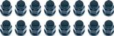 MCGARD LUG NUTS (BLACK) 12MMX1.5 THD - 3/4 HEX (SET OF 4)  MADE IN  U.S.A.