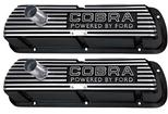 "1964-73 Cobra ""Powered By Ford"" Valve Covers with Outline Letters - Black"