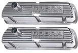 "1964-73 ""Cobra Powered By Ford"" Valve Covers with Outline Letters - Polished"