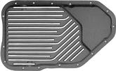 TH200-4R Low Profile Cast Aluminum Transmission Pan with Black Powdercoat Finish