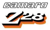 1978 Camaro Z28 Clear, Black, Orange and Yellow Front Fender Decal