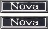 1969-72 NOVA CUSTOM INTERIOR  DOOR PANEL EMBLEMS