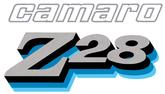 1978 Camaro Z28 Dark Blue / Blue / Black / Silver Stripe Decal Set