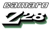 1978 Camaro Z28 Dark Green / Green / Black Stripe Decal Set
