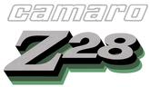 1978 Camaro Z28 Dark Green / Green / Black / Silver Stripe Decal Set
