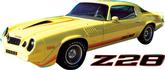 1979 CAMARO 2/COLOR Z28 STRIPE SET ORANGE/TOMATO RED