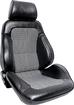 Procar Rally XL Bucket Seats with Headrests - Pair - Black Vinyl/Houndstooth