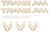 91-92 TRANS-AM  GRAPHICS KIT (GOLD)