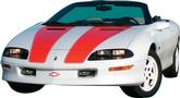 1998-02 Camaro 30Th Anniversary Stripe Decal Kit T-Tops/Convertible (Orange)