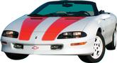 1998-02 Camaro 30Th Anniversary Stripe Decal Kit T-Tops/Convertible (Silver)