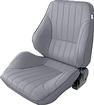 procar Rally Series Left Hand (Driver Side) Gray Vinyl Low Back Recliner Bucket Seat
