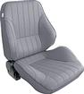 procar Rally Series Right Hand (Passenger Side) Gray Vinyl Low Back Recliner Bucket Seat