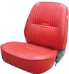 Procar Pro-90 Red Vinyl Low Back Reclining Bucket Seat Without Headrest; LH