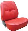 Procar Pro-90 Red Vinyl Low Back Reclining Bucket Seat Without Headrest; RH