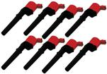 1999-04 MSD Ford 4.6/5.4L 4-Valve 8-Pack Coils - Red