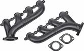 Cast Iron LS Exhaust Manifolds with Black Ceramic Finish