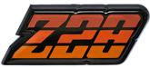 1980-81 Camaro Z28; Fuel Door Emblem ; Orange; with Hardware