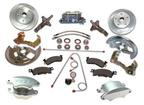 1967-1974 Manual Disc Brake Conversion Set with Clear 2 Piston Calipers, Slotted Rotors