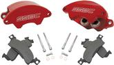 1969-76 Super Twin 38Mm 2- Piston Red Powder Coated Front Calipers (For Non-Power Brake Cars)