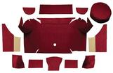 1967-68 Mustang Convertible Loop Trunk Carpet Set with Boards - Maroon