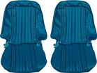 1971-72 Blazer Front Bucket / Rear Bench Seat Upholstery Set - Bright Blue