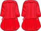 1971-72 Blazer Front Bucket / Rear Bench Seat Upholstery Set - Bright Red