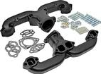 RAM'S HORN BLACK CERAMIC EXHAUST MANIFOLD GM SB V8 ENGINES (PAIR)