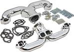 Chevrolet SB V8 Engines Ram's Horn Silver Ceramic Exhaust Manifolds