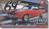 "Rustic Hardwood Wall Art - ""1969 Camaro"" - Large (20"" x 32"")"