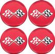 1955-81 GM WHEEL CENTER CAP/SPINNER DECAL (44MM - RED CROSS FLAG)
