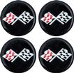 1955-81 GM 44Mm Wheel Center Cap/Spinner Decal (Black & Silver Cross Flag)