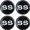 1955-81 GM 44Mm Wheel Center Cap/Spinner Decal (Black & Silver SS Logo)