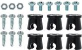 "6 Piece 1/4"" Notchead Metal Line Clamp Set"