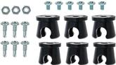 "6 Piece 3/8"" Notchead Metal Line Clamp Set"