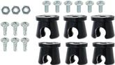 "6 Piece 1/2"" Notchead Metal Line Clamp Set"