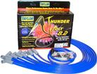 Blue Taylor Thunder Volt Small Block w/o HEI Under Headers Ignition Wire Set w/90° Plug Boots