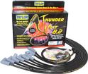 Black Taylor Thunder Volt Small Block w/o HEI Under Headers Ignition Wire Set w/90° Plug Boots